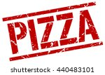 pizza stamp.stamp.sign.pizza. | Shutterstock .eps vector #440483101