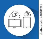 cloud computing design  | Shutterstock .eps vector #440484925
