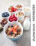 paleo style breakfast  grain... | Shutterstock . vector #440486584