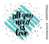 trendy lettering poster. hand...   Shutterstock .eps vector #440495461