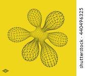 molecule. graphic design. 3d... | Shutterstock .eps vector #440496325