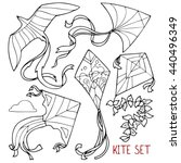 kite set  outline drawings  a...   Shutterstock .eps vector #440496349