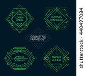 geometric frames set.... | Shutterstock .eps vector #440497084