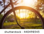 Close Up Of Bicycle Wheel With...