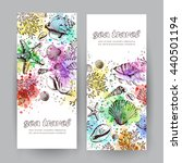 set of two vertical banners... | Shutterstock .eps vector #440501194