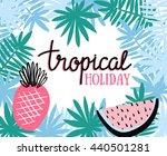 hand drawn stylish typography... | Shutterstock .eps vector #440501281