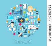 medical icon set. flat design... | Shutterstock . vector #440507911