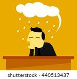 man strain   Shutterstock .eps vector #440513437