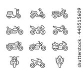 set line icons of motorcycles | Shutterstock .eps vector #440515609