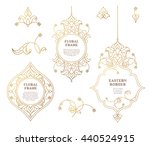 vector set of frames  vignettes ... | Shutterstock .eps vector #440524915