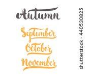 3 autumn month of year  ... | Shutterstock .eps vector #440530825