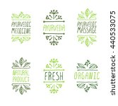 ayurveda product labels.... | Shutterstock .eps vector #440533075