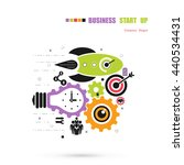 business start up icon concept... | Shutterstock .eps vector #440534431