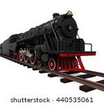 Steam Locomotive Train. 3d...