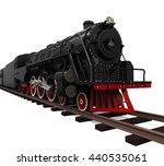 Steam Locomotive Train. 3d...