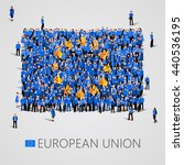large group of people in the... | Shutterstock .eps vector #440536195
