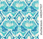 blue and white seamless ikat... | Shutterstock . vector #440547937