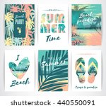 set of summer vacation cards....