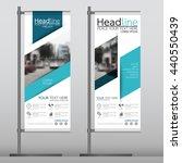 blue flag banner business...   Shutterstock .eps vector #440550439