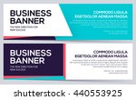 two vector business banners in... | Shutterstock .eps vector #440553925