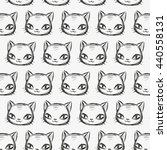 cute cat seamless pattern | Shutterstock .eps vector #440558131