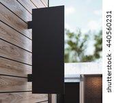 black signboard on the wooden... | Shutterstock . vector #440560231