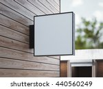 white square signboard on the... | Shutterstock . vector #440560249