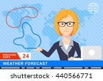 anchorman on tv broadcast news. ... | Shutterstock .eps vector #440566771
