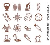 biohazard  toxic icon set | Shutterstock .eps vector #440568157