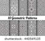 set of 10 abstract patterns.... | Shutterstock .eps vector #440569135