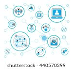 social media and network ... | Shutterstock .eps vector #440570299
