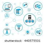 server and network  vector... | Shutterstock .eps vector #440575531