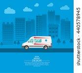 ambulance car on a city... | Shutterstock .eps vector #440578945