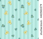 welcome baby boy decorative... | Shutterstock .eps vector #440583379