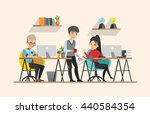 business meeting. teamwork... | Shutterstock .eps vector #440584354