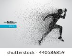 silhouette of a running man... | Shutterstock .eps vector #440586859