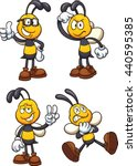 cartoon bees in different poses.... | Shutterstock .eps vector #440595385