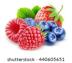 isolated berries. fresh... | Shutterstock . vector #440605651