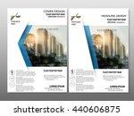 blue annual report brochure... | Shutterstock .eps vector #440606875