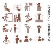 alone icon set | Shutterstock .eps vector #440608294