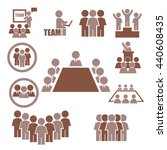 ally  alliance  team icon set | Shutterstock .eps vector #440608435