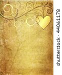 Old Yellow Brown Valentine Paper