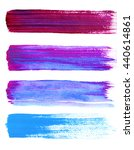 set of blue and violet hand... | Shutterstock . vector #440614861