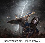 lightning strikes a knight on...