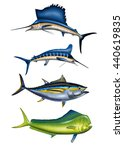 4 Deep Sea Sport Fish ...