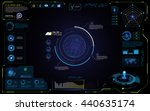 ui futuristic hud interface... | Shutterstock .eps vector #440635174