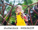 active little child playing on... | Shutterstock . vector #440636239