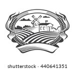 rural landscape with fields and ... | Shutterstock .eps vector #440641351