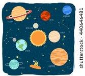 illustration of cute cartoon... | Shutterstock .eps vector #440646481