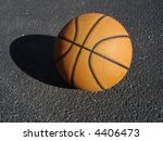 urban basketball on blacktop | Shutterstock . vector #4406473